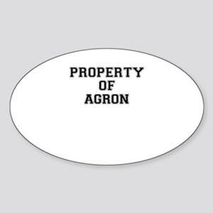 Property of AGRON Sticker