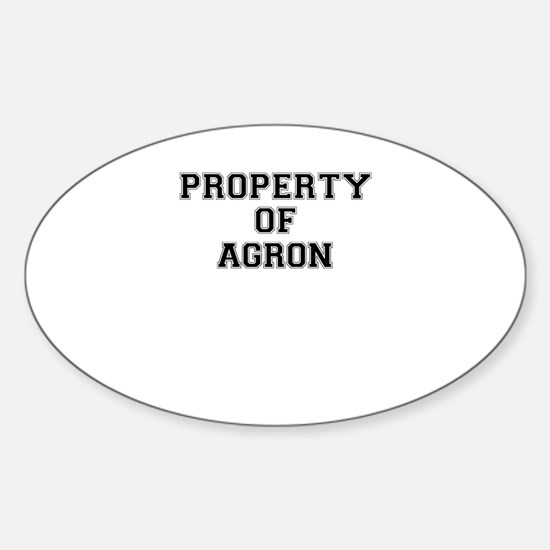 Property of AGRON Decal