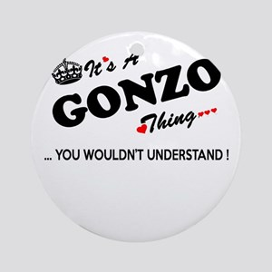 GONZO thing, you wouldn't understan Round Ornament