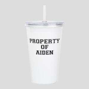 Property of AIDEN Acrylic Double-wall Tumbler