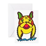 Funky Frenchie Greeting Card