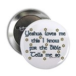 Yeshua Loves Me Button