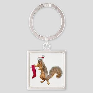 Standing Squirrel Stocking Keychains