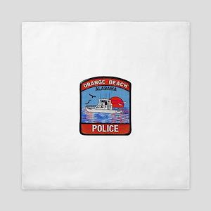 Orange Beach Police Queen Duvet