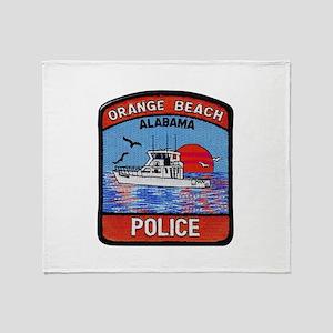 Orange Beach Police Throw Blanket