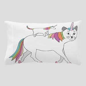 Cat-Unicorn Riding Unicorn-Cat Pillow Case