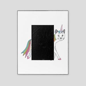 Cat-Unicorn Riding Unicorn-Cat Picture Frame