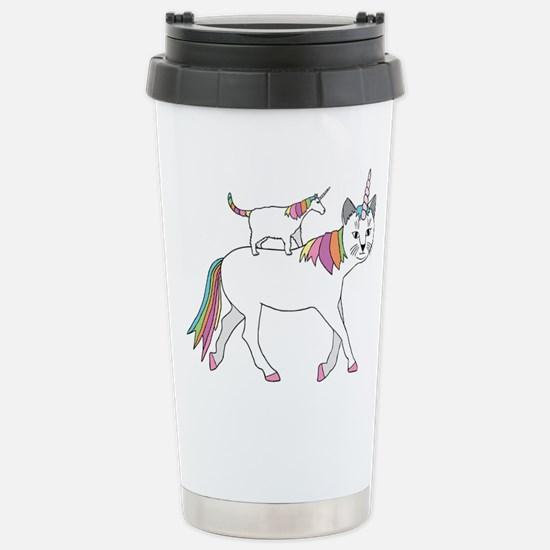 Cat-Unicorn Riding Unic Stainless Steel Travel Mug