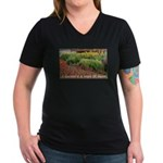 Garden is a work of heart Women's V-Neck Dark T-Sh