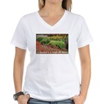 Garden is a work of heart Women's V-Neck T-Shirt