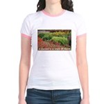 Garden is a work of heart Jr. Ringer T-Shirt