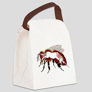 Unicorn Bee Canvas Lunch Bag