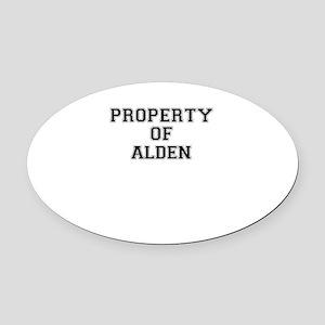 Property of ALDEN Oval Car Magnet
