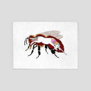 Unicorn Bee 5'x7'Area Rug