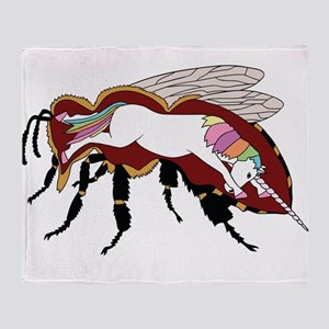 Unicorn Bee Throw Blanket