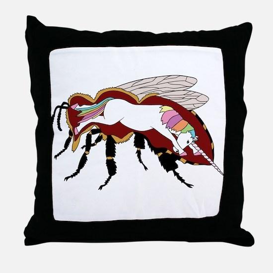 Unicorn Bee Throw Pillow