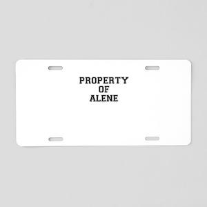 Property of ALENE Aluminum License Plate
