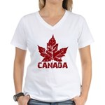 Cool Canada Souvenir Women's V-Neck T-Shirt