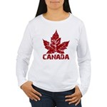 Cool Canada Souvenir Women's Long Sleeve T-Shirt