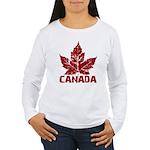 Cool Canada Souvenir Women's Long Sleeve T-Shirt