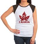 Cool Canada Souvenir Women's Cap Sleeve T-Shirt
