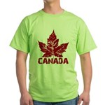 Cool Canada Souvenir Green T-Shirt