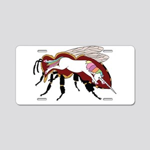 Unicorn Bee Aluminum License Plate