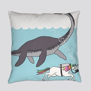 Loch Ness Monster Swimming With Un Everyday Pillow