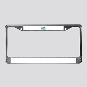 Loch Ness Monster Swimming Wit License Plate Frame