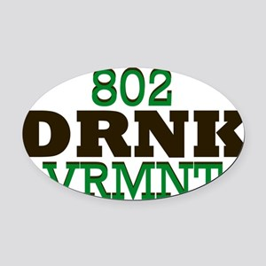 Drink Vermont Beer Local 802 Oval Car Magnet