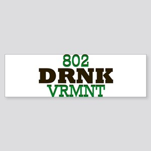 Drink Vermont Beer Local 802 Bumper Sticker