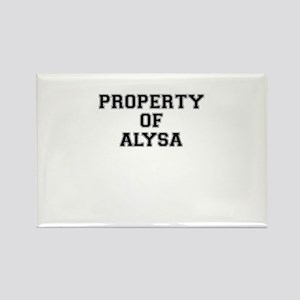 Property of ALYSA Magnets