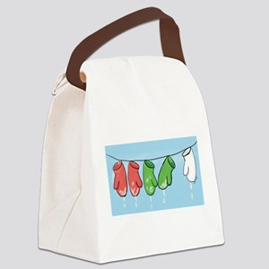 Drying Mittens Canvas Lunch Bag