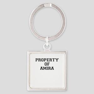 Property of AMIRA Keychains