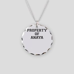 Property of ANAYA Necklace Circle Charm