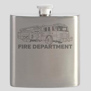Fire Department Fire Truck Flask