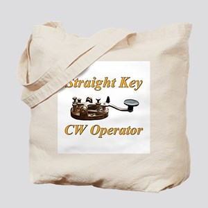 Straight Key CW Operator Tote Bag
