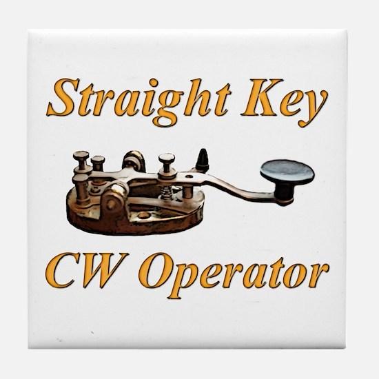 Straight Key CW Operator Tile Coaster
