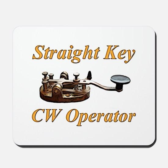 Straight Key CW Operator Mousepad