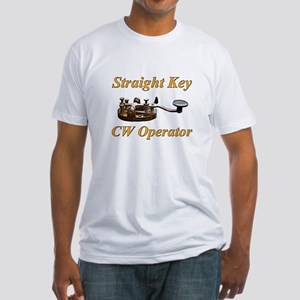 Straight Key CW Operator Fitted T-Shirt