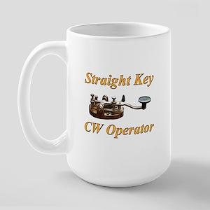 Straight Key CW Operator Large Mug