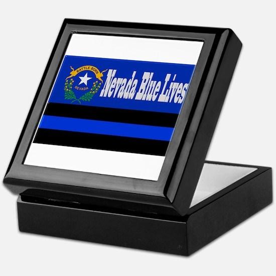 Nevada Blue Lives Keepsake Box
