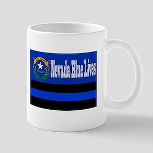 Nevada Blue Lives Mugs