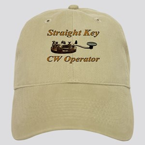 Straight Key CW Operator Cap