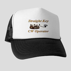 Straight Key CW Operator Trucker Hat