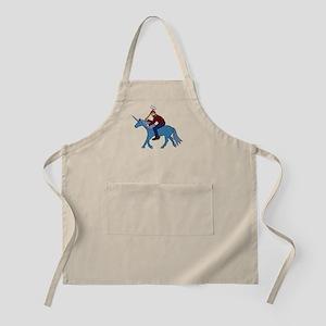 Paul Bunyan Riding Unicorn Apron