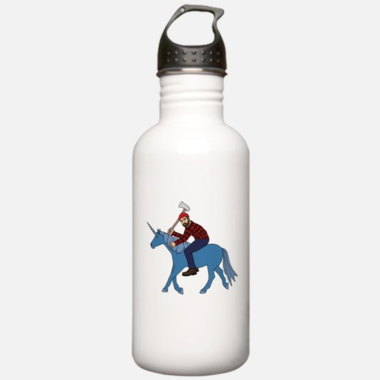 Paul Bunyan Riding Uni Water Bottle
