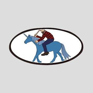 Paul Bunyan Riding Unicorn Patch
