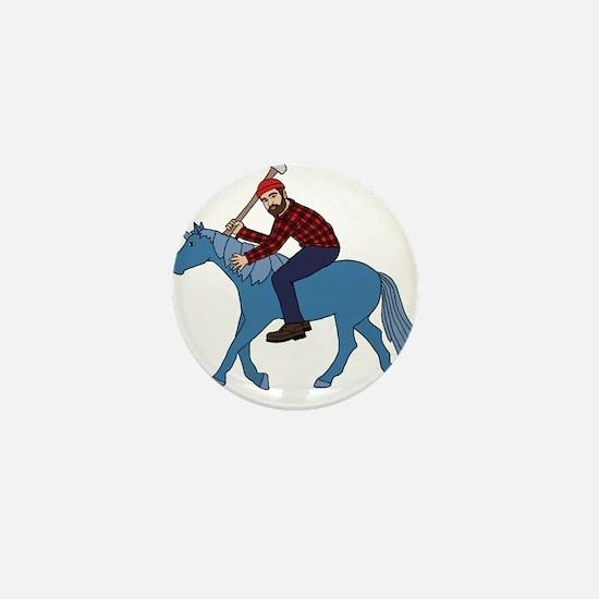 Paul Bunyan Riding Unicorn Mini Button