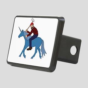 Paul Bunyan Riding Unicorn Rectangular Hitch Cover